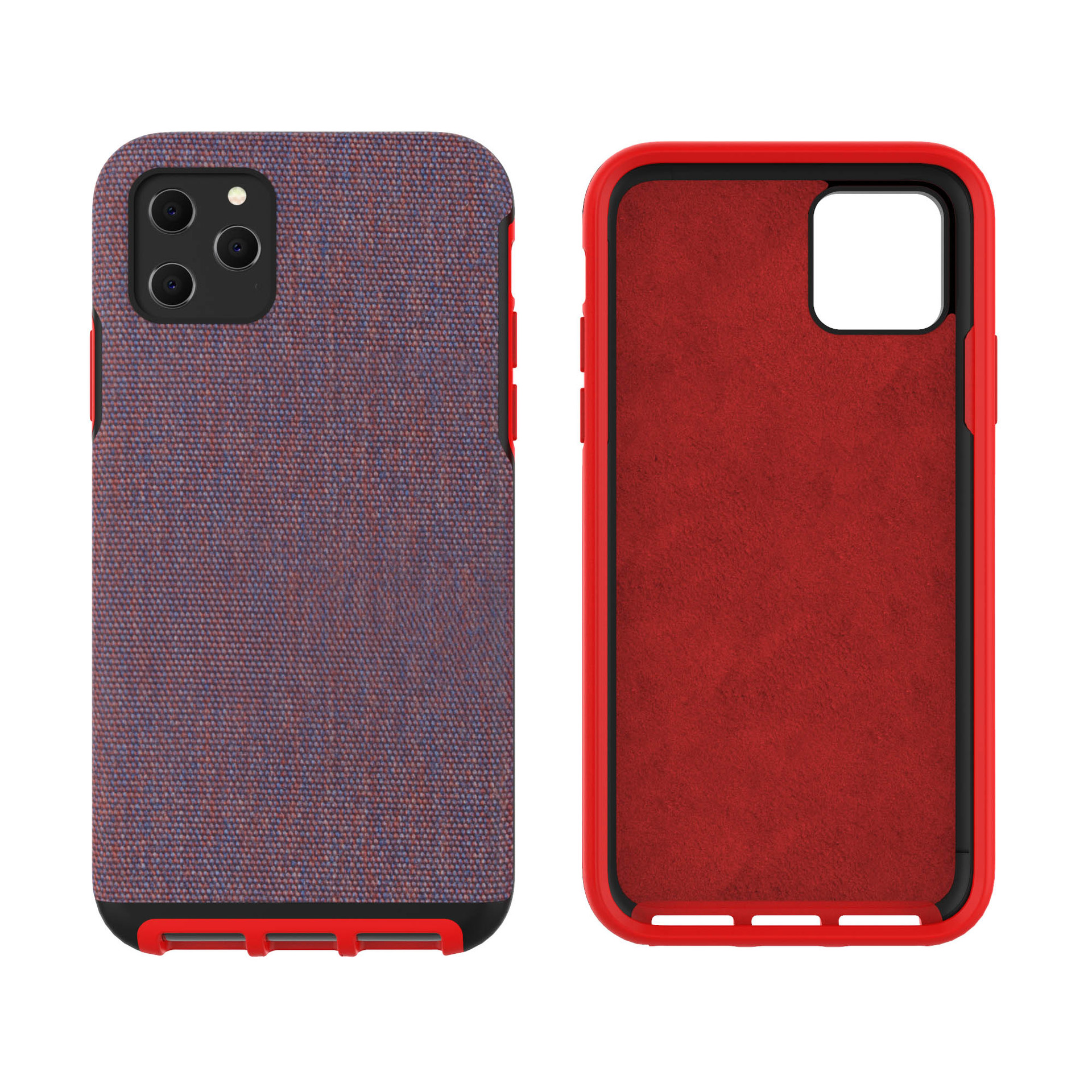 Case for iphone XI for iphone TPU PC TPE <strong>Microfiber</strong> shockproof back cover case