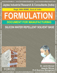 formula document for making SILICON WATER REPELLENT SOLVENT BASE