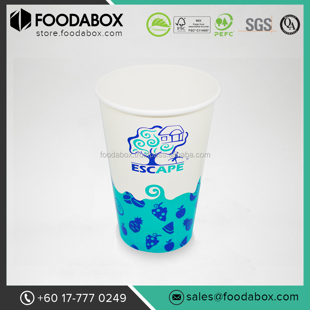 Excellent Quality and Affordable Disposable Single Wall Cold Drink Paper Cups