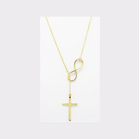 Gold Fashion Accessory Cross Necklace Eternal
