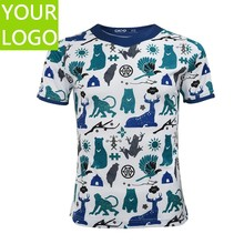 customized all over sublimation printing t shirt
