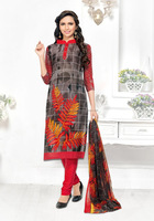 2017 Latest design Grey Leon material Printed Salwar Kameez/Women Occasion Casual Party Wear Indian Ethnic Suits