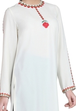 White Kurta and Black Trousers