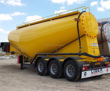 V Type 29 - 60 m3 Bulk / Dry / Powder Cement Tanker Trailer With Electrical or Diesel Engine