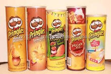 Pringles with all flavors and sizes