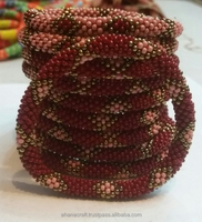Roll On Glass Beads Bracelets (R-017)