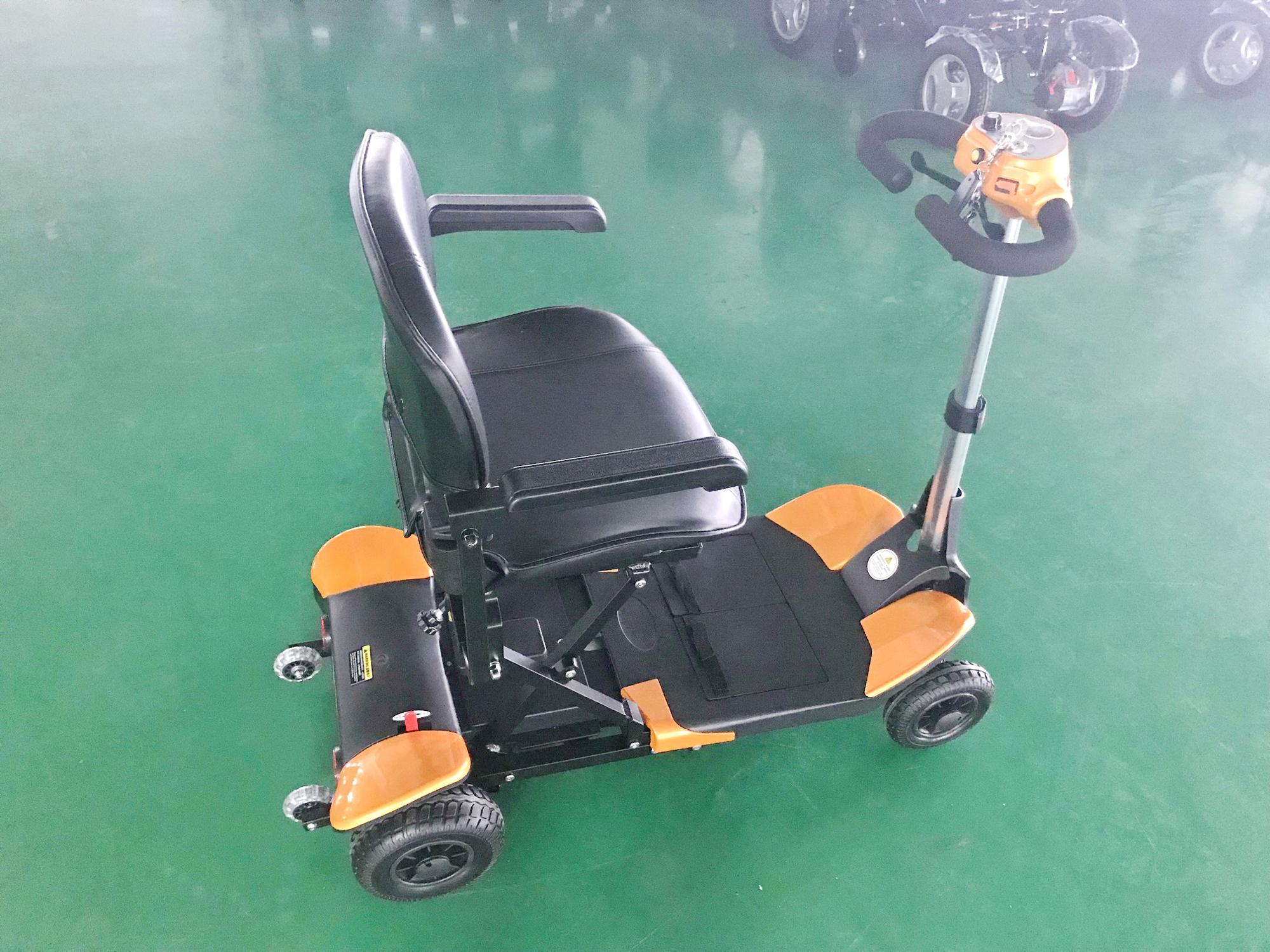 new arrival 4 wheel aluminium frame remote compact lightweight mobility scooter