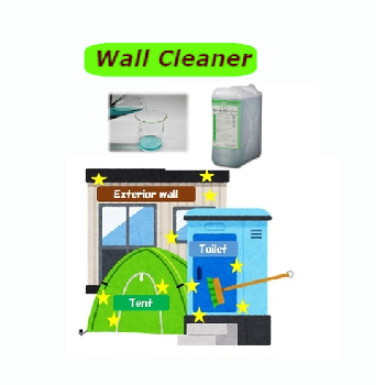 Green color buildings wall cleaner industrial cleaning chemicals