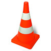 520 mm Height Road Safety Flexible Reflective Plastic Traffic Cone
