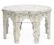 Moroccan patten mother of pearl inlay coffee table