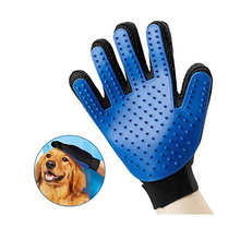 Hot Selling Amazon Pet Grooming Brush Five Fingers Silicone Glove Dog Cat Hair Cleaning Glove for Dog