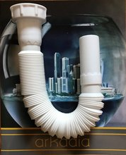 siphon /Bathroom washbasin flexible drain pipe Kitchen sink pvc sewer tube PP extension waste hose