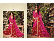 Indian Ethnic Designer Beautiful Fancy Viscose Border Pattern Heavy Printed Wholesale Saree
