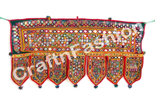 Wholesale Gujaratri Embroidered Wall Hanging - Indian crystal beaded toran - Diwali special handmade door hanging