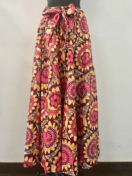 Cheap price beautiful in colour african wax print skirts with pockets dashiki