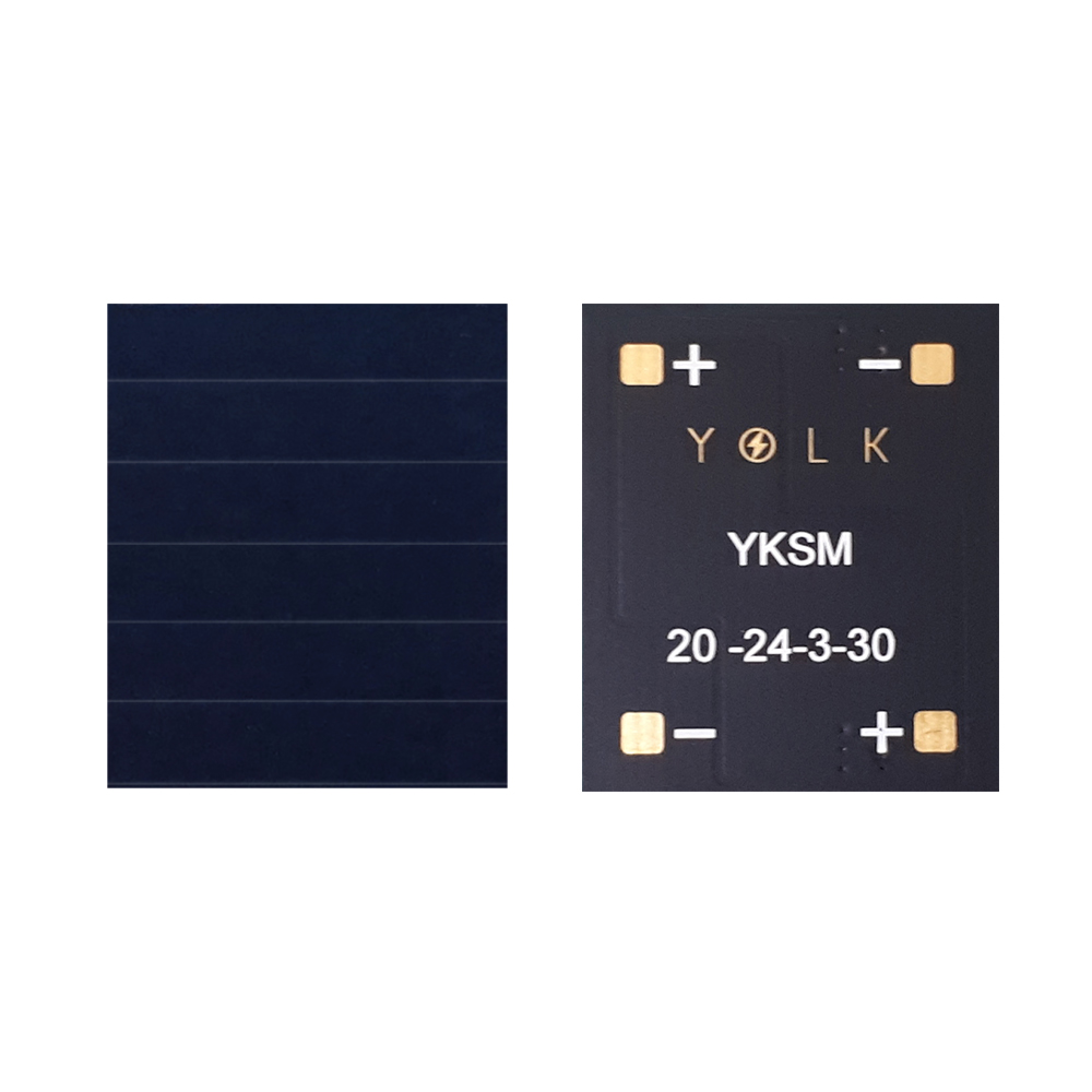 23.7% monocrystalline mini solar panel for BLE, IoT, beacon, wearable, home security, industrial appliances (14) YKSM 20-24-3-30