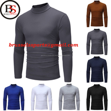 Brussels Sports Stylish Men's Cotton Blend Neck Sweater Stretch T-Shirts New 2018