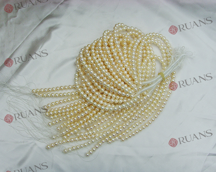 8-8.5 mm AAA2 grade near round shape white fine freshwater pearl strands
