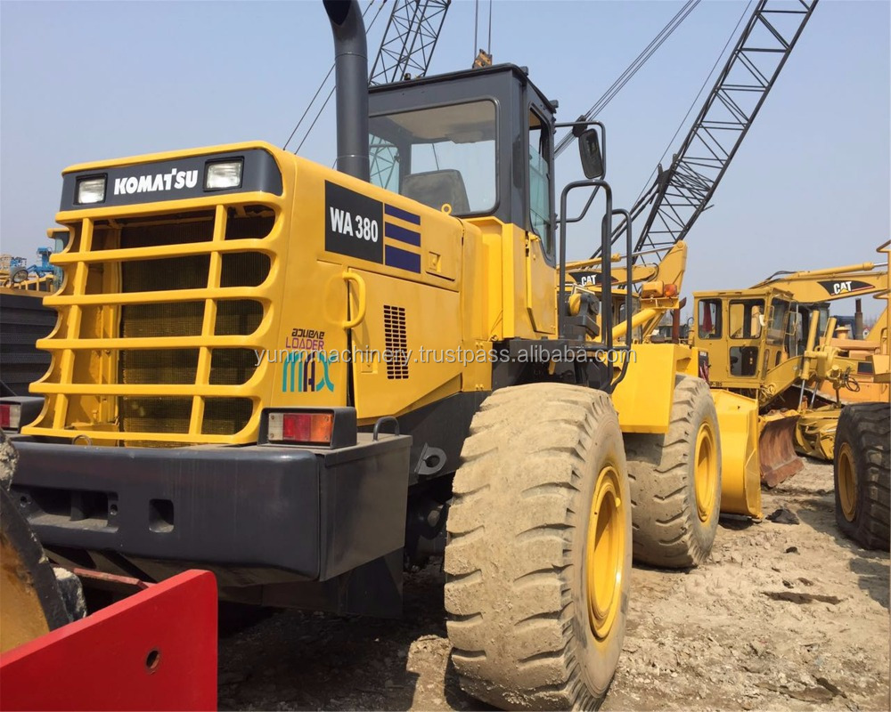 Good quality used komatsu WA380-3 ,wa380-5 ,wa380-6 wheel loader