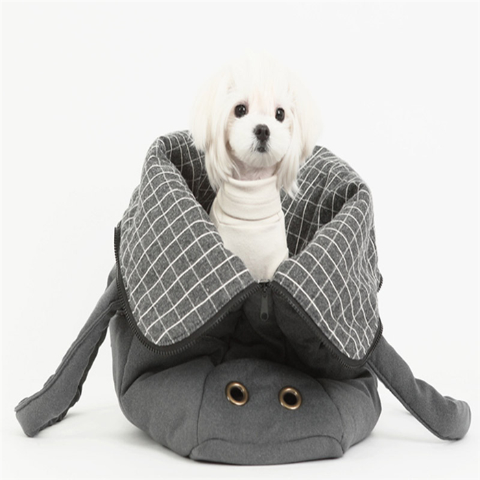 Korea wholesale websites pet carrier backpack bag for small dogs WithBag TenderGrey