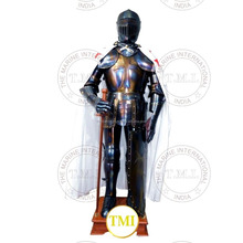 Antique Crusader Full Suit of Armor ~ Collectible Medieval Knight Full Body Armour with Display Stand