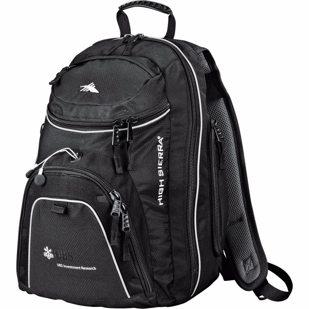 High Sierra Jack-Knife Backpack - has an easy access, top-load center compartment and comes with your logo