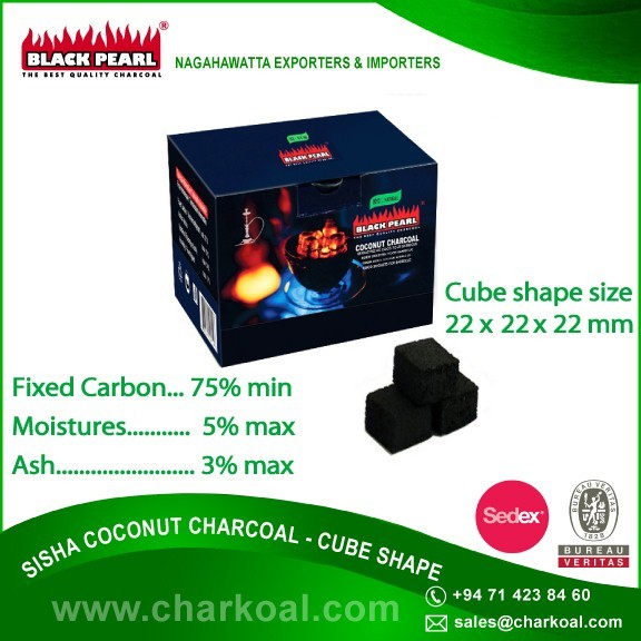 Optimum Freshness Cube Shape Hookah Shisha Charcoal from Reliable Supplier