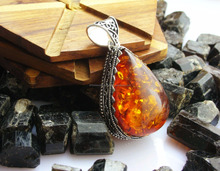 Baltic Amber Pendant With Sterling Silver Hanger Handmade Jewelry Wholesale