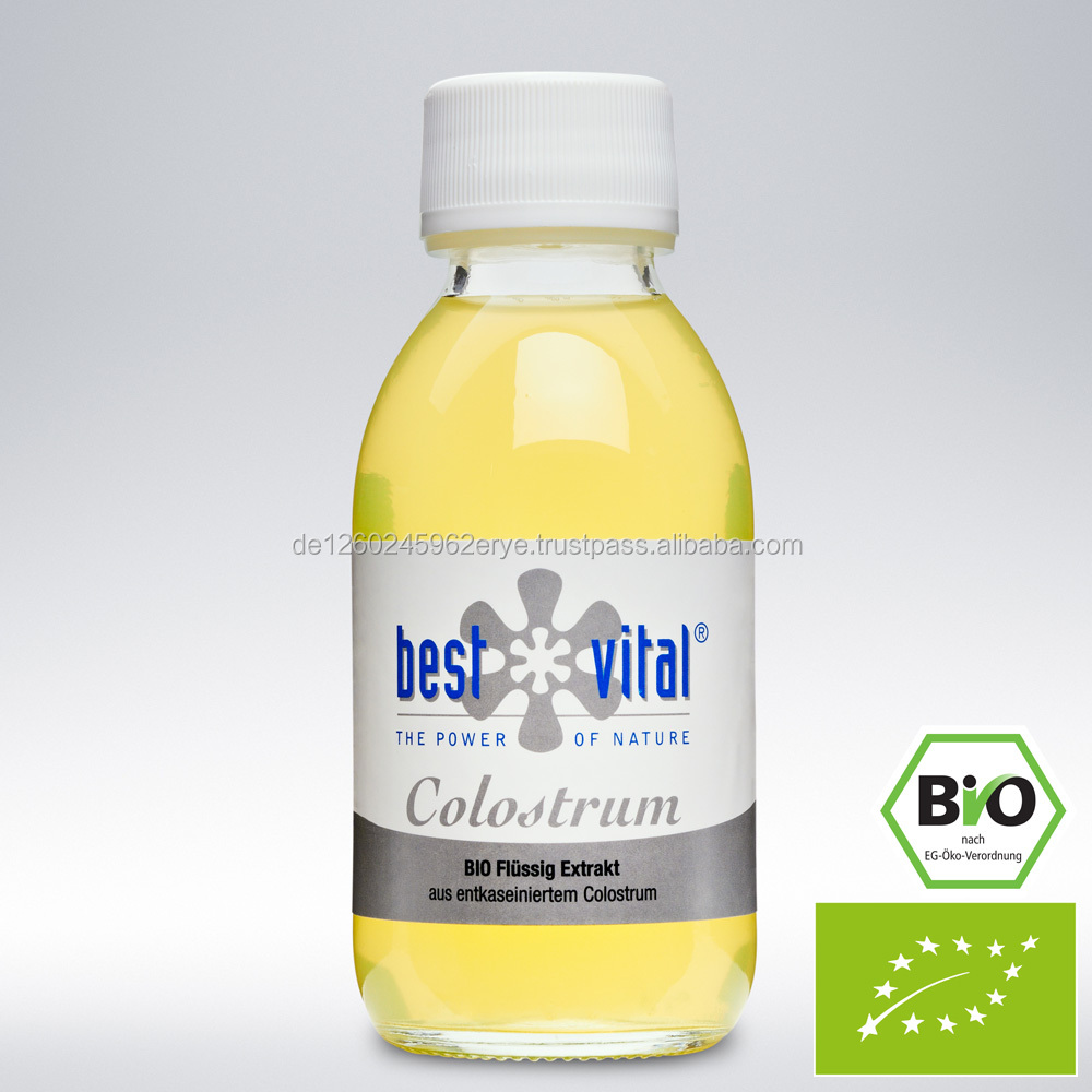 Colostrum, Liquid, Organic, FDA, GMP, ISF, Halal, Made in Germany