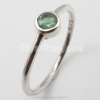 .925 Pure Silver Hot Selling GREEN EMERALD EXTRA ORDINARY Rings Any Size 5 to 10 Buy Hand Made Stone Girls Jewelry Supplier