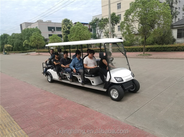 12 seater golf cart with gas or electric power
