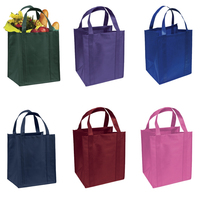 Custom Eco Strong Supermarket Non Woven Tote Reusable Grocery Bags