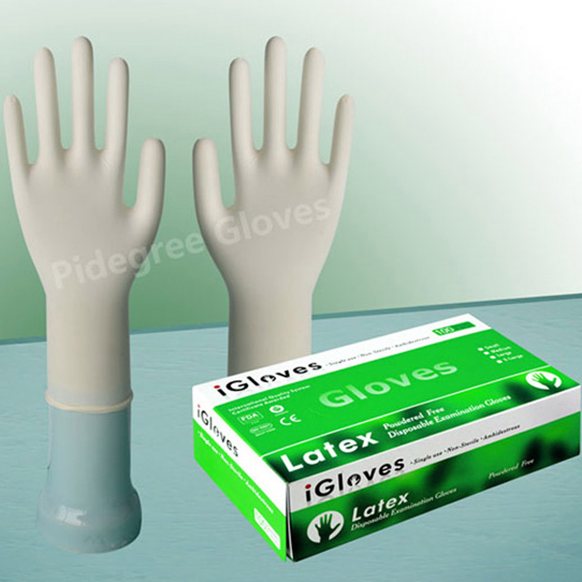 factory supply customized disposable natural gloves medical latex gloves malaysia