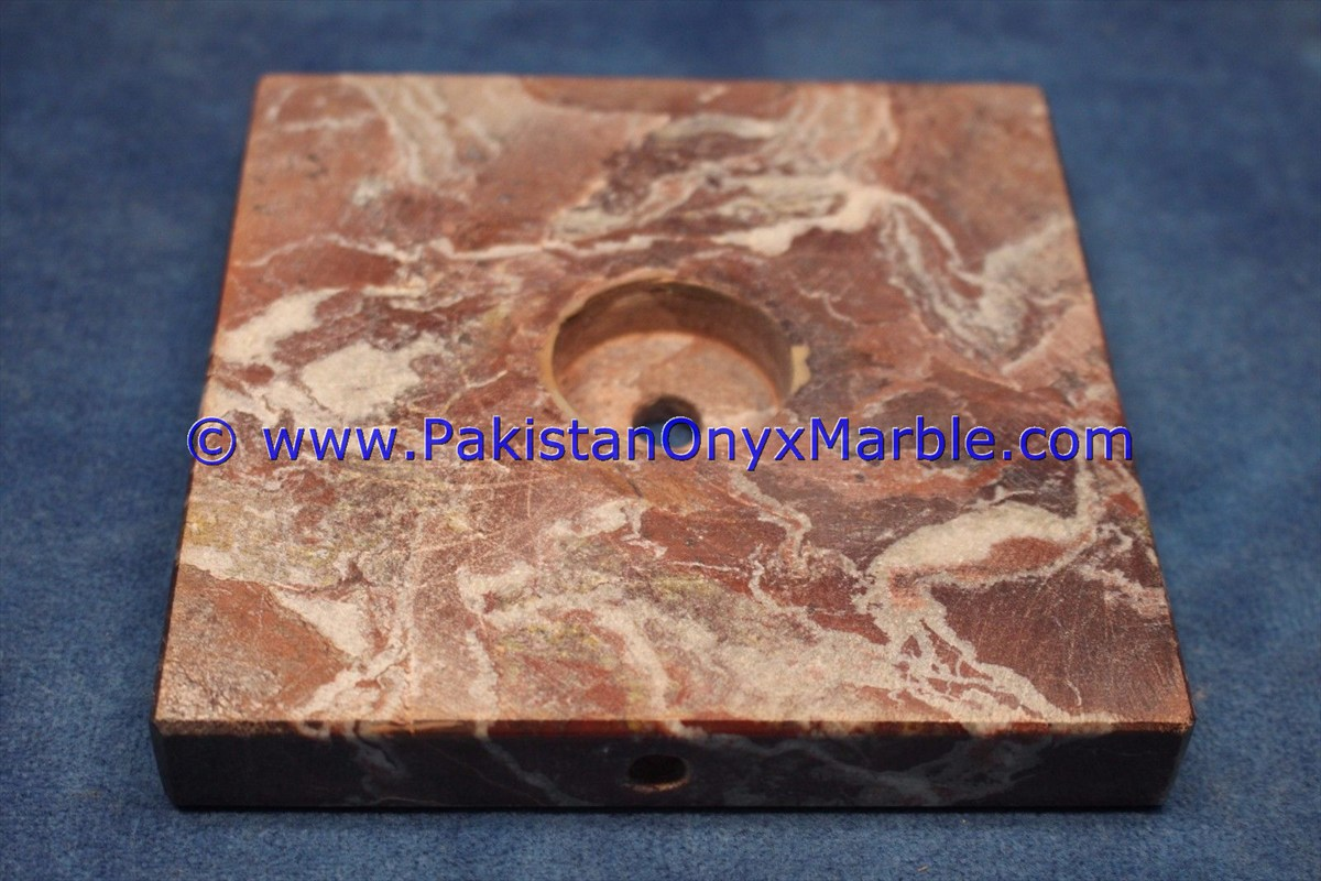 MARBLE BASES SQUARE FOR CUSTOM AWARDS TROPHY RED ZEBRA