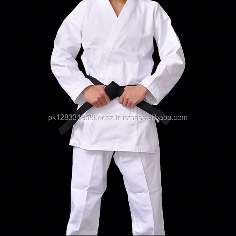 Complete Youth Karate Uniform with White Jacket, White Pants, and White Belt
