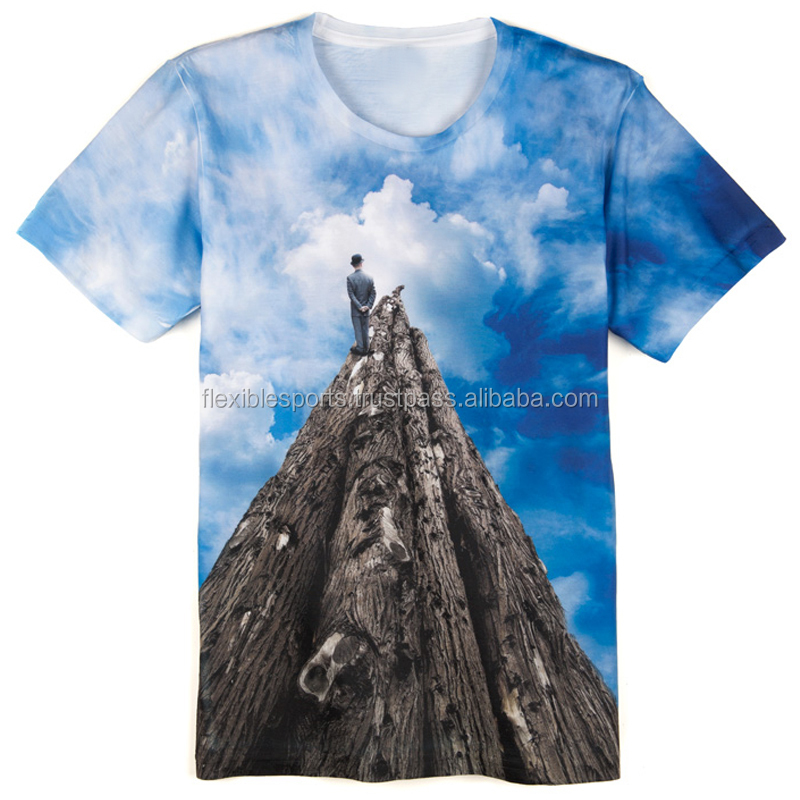 Custom men sublimation print dri fit t-shirt design your own with high quality