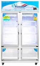 Made in Thailand 4 doors Refrigerators 2 BEVERAGE coolers and 2 FREEZERS ice