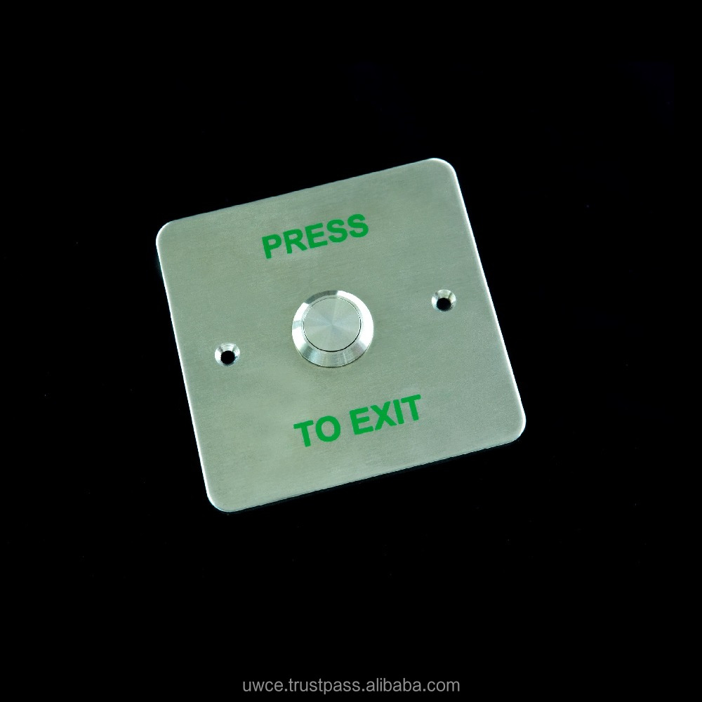 Access Control Exit Button 3 x 3