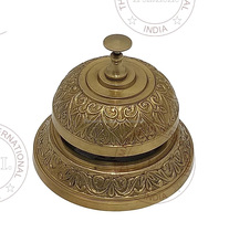 Brass Antique Marine Desk Bell ~ Collectible Brass Table Bell
