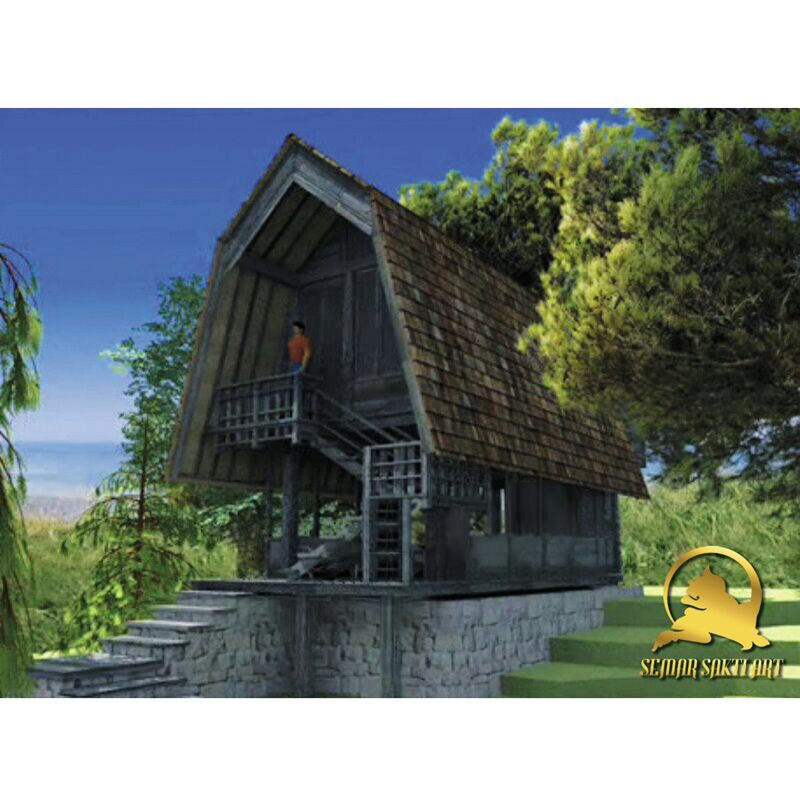 Indonesia Ethnic Home Depot Prefab Wooden House For Sale