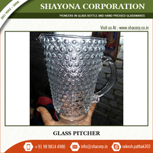 Clear Glass Cold Water Pitcher with Handle