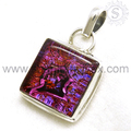 Dico glass gemstone glittering pendant handmade 925 sterling silver pendants wholesale online