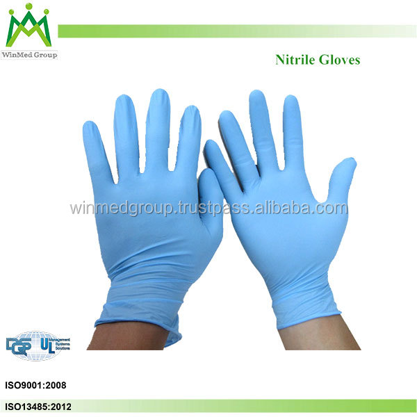 Non sterile disposable nitrile gloves for examination Nitrile Glove Cleaning