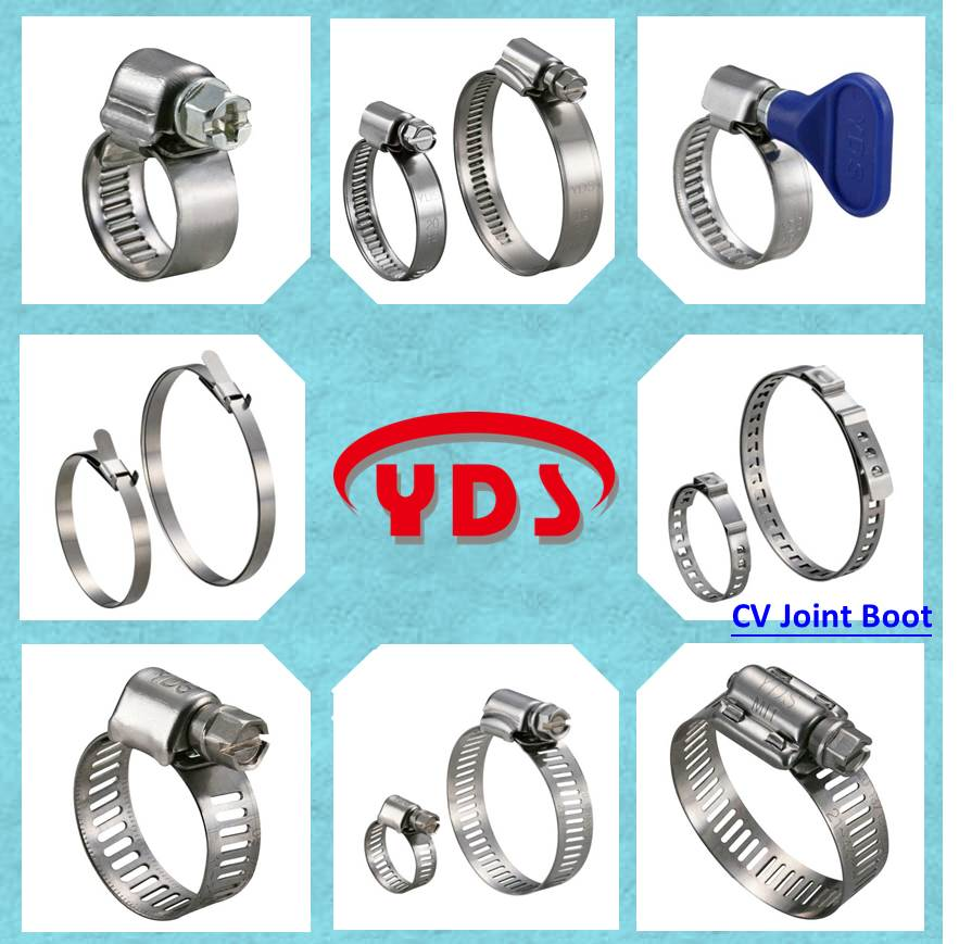 Double wire metal pipe clamps for pipeline of garden and greenhouse