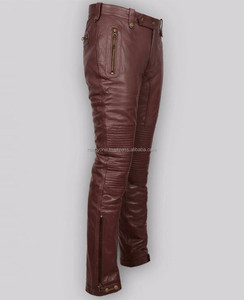 Womens black skinny leather trousers pencil pants club casual motorcycle