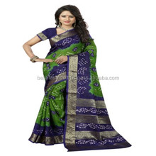 Latest Indian Wonderful Color Traditional Looking Printed Bandhej Designer Bandhani Sarees in Wholesale