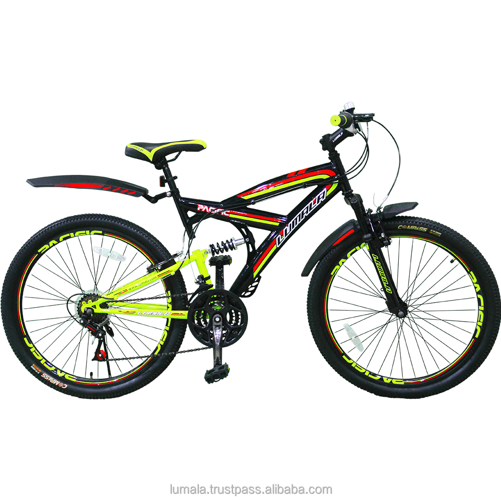 "26"" Multi Speed (Shimano) Mountain Bike with Front and Rear Suspension LUMALA PACIFIC"