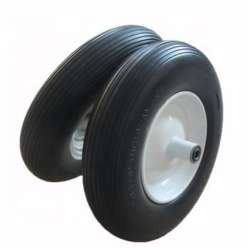 High Quality 4.80/4.00-8 PU Flat Free Wheels/Tire With Eccentric Hub