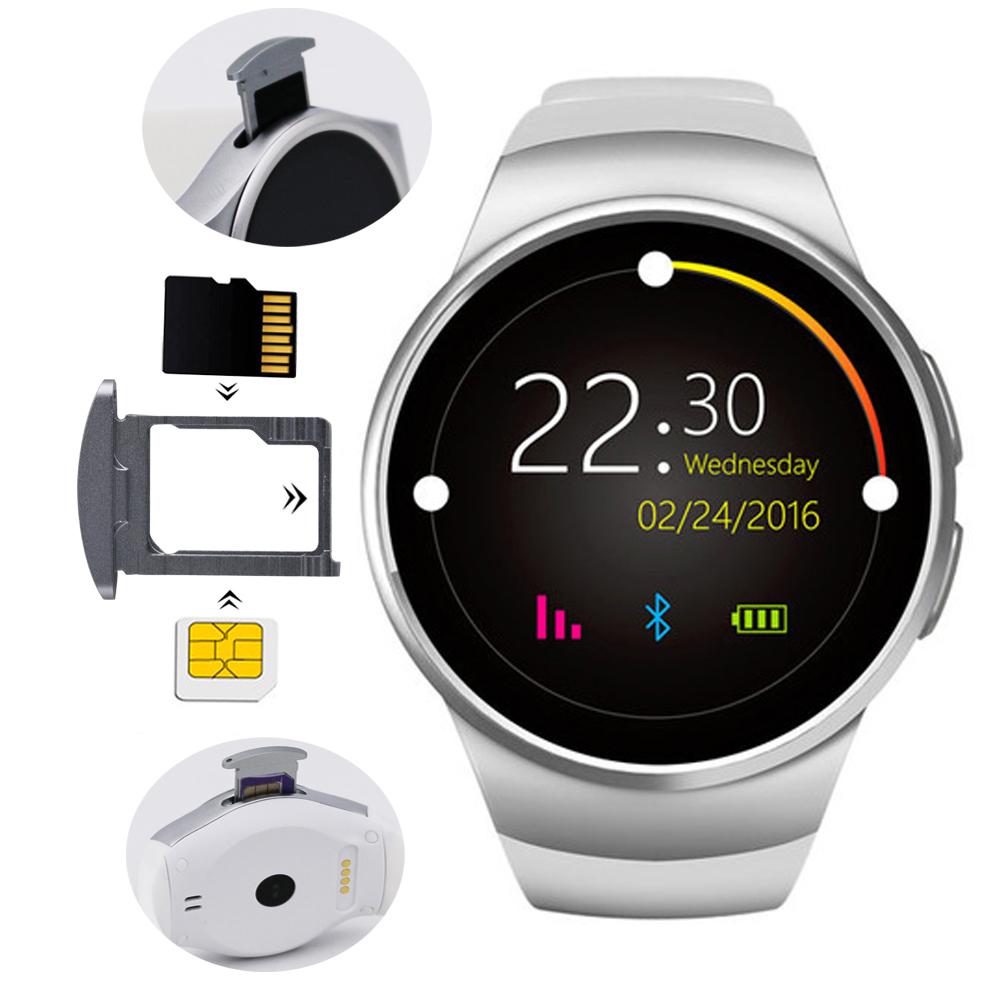 KW18 Smart Watch SIM TF Card Slot Dialer Smartwatch Phone MP3 Video Magic Voice