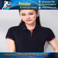 OEM Wholesale New design polo tshirt custom printed logo high quality/top quality women polo shirts custom logo cheap price